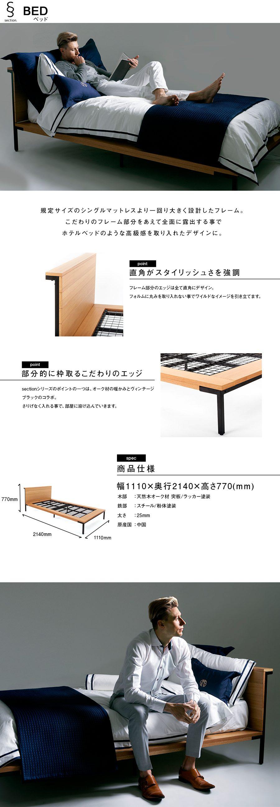 ベッドの説明文